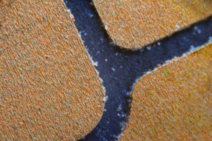 nfc chip under microscope